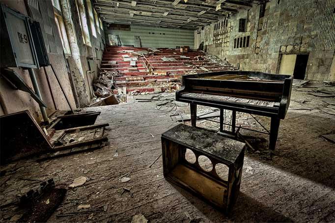 Pripyat's abandoned concert hall